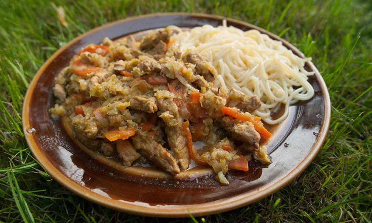Mięso wieprzowe duszone z jarzynami